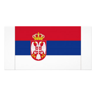 Serbia National Flag Photo Greeting Card