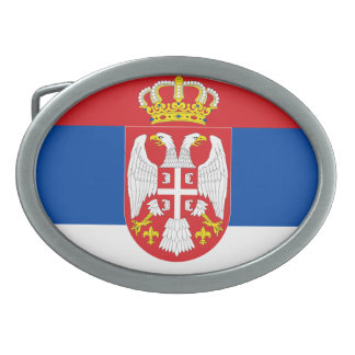 Serbia Oval Belt Buckle