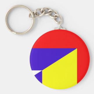serbia romania flag country half symbol key ring
