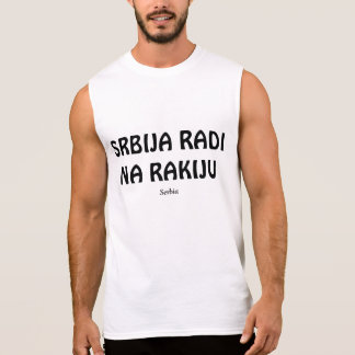 SERBIA RUNS ON RAKIJA SLEEVELESS SHIRT