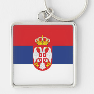 SERBIA Silver-Colored SQUARE KEY RING