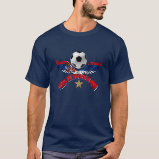 Serbia soccer ball wings of power Srbija design T-Shirt