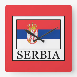 Serbia Square Wall Clock