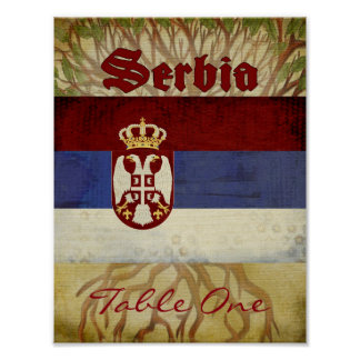 Serbia Table Number Poster
