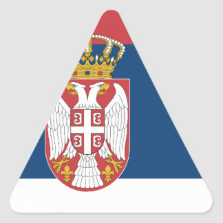 serbia triangle sticker