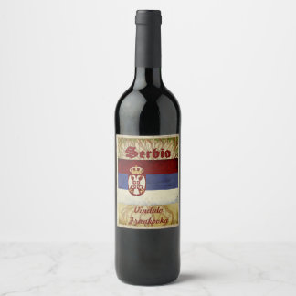Serbia Wine Label