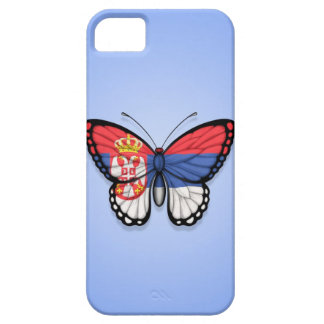 Serbian Butterfly Flag on Blue Case For The iPhone 5