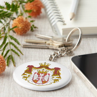 Serbian Coat arms Key Ring