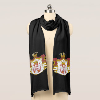 Serbian Coat arms Scarf