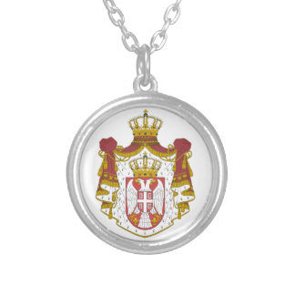 Serbian Coat arms Silver Plated Necklace