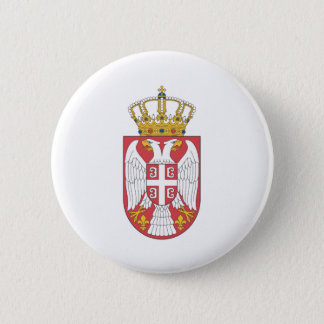Serbian coat of arms 6 cm round badge
