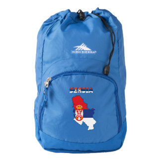 Serbian country flag backpack