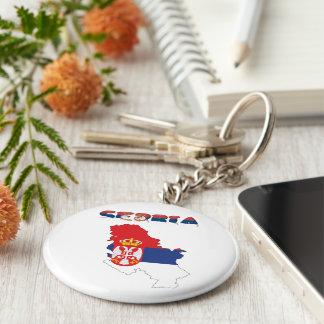 Serbian country flag key ring