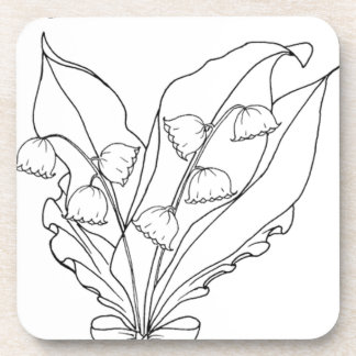 serbian cyrillic lily of the valley coaster