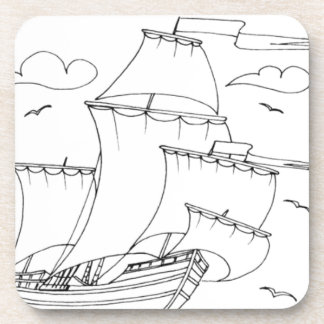 serbian cyrillic sailboat 1 drink coasters