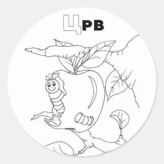 serbian cyrillic worm round sticker