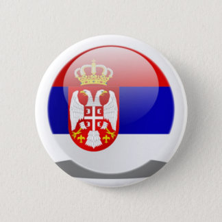 Serbian Flag 6 Cm Round Badge