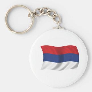 Serbian flag key ring