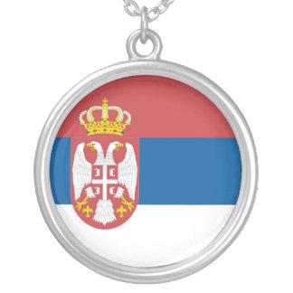 Serbian Flag Necklace