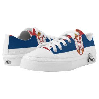 Serbian flag printed shoes
