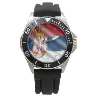 Serbian flag watch