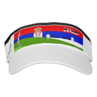 Serbian golfer visor