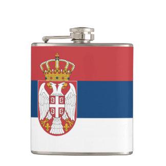 Serbian state flag hip flask