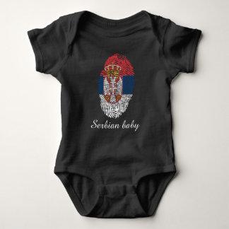 Serbian touch fingerprint flag baby bodysuit