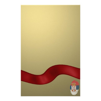 Serbian touch fingerprint flag customized stationery