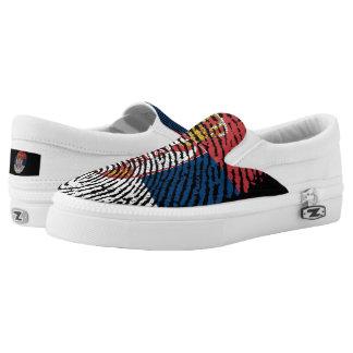 Serbian touch fingerprint flag Slip-On shoes