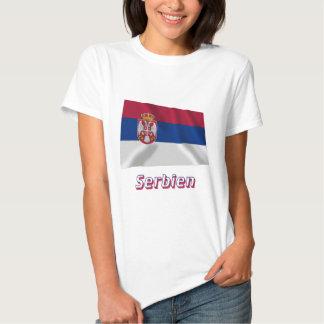 Serbien Fliegende Flagge mit Namen Shirt