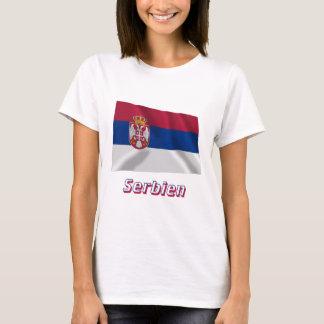 Serbien Fliegende Flagge mit Namen T-Shirt