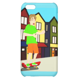 Serenading Skateboarding Dude iPhone Case Cover For iPhone 5C