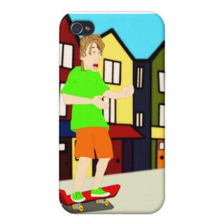 Serenading Skateboarding Dude iPhone Case iPhone 4/4S Cases