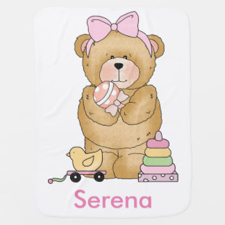 Serena's Teddy Bear Personalized Gifts Baby Blanket