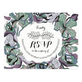 Serendipity Floral Forest Wedding Invitation Suite Postcard