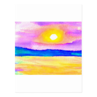 Serendipity Ocean Lake Sunset Art Postcards