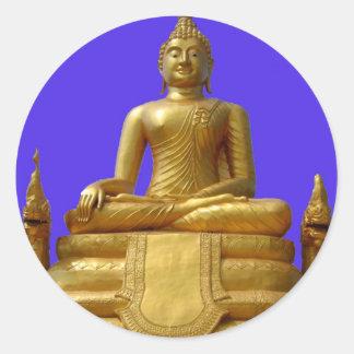 Serene and beautiful Buddha design Classic Round Sticker