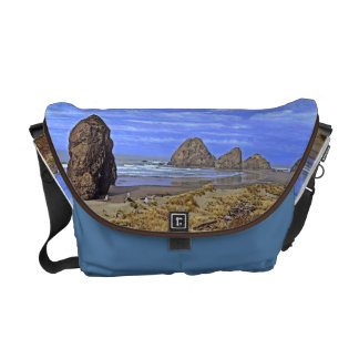 Serene Beach Messenger Bags