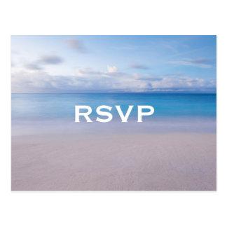 Serene Beach RSVP Postcard