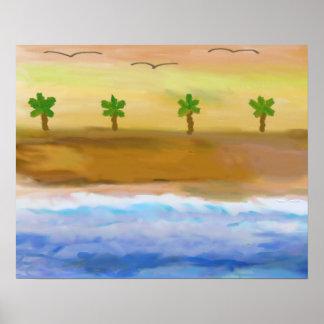 Serene Beach Scene Poster