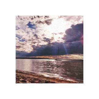 Serene Beach Sunset Canvas