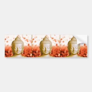 Serene Buddha bumper sticker