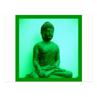 Serene Buddha meditating Postcard