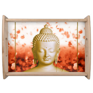 Serene Buddha serving tray