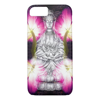 Serene Buddha & Tulips iPhone 7 Case