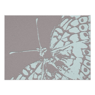 Serene Butterfly Poster