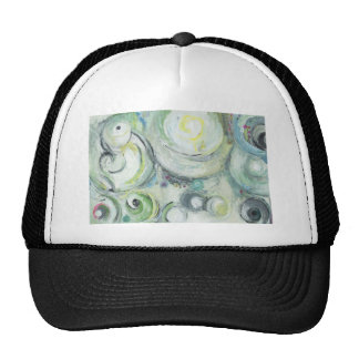Serene Circles (abstract expressionism ) Cap