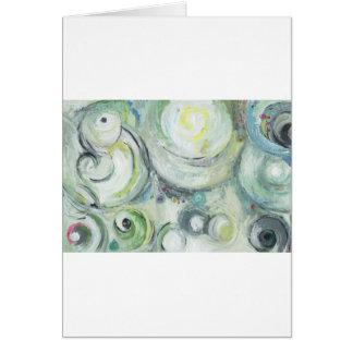 Serene Circles (abstract expressionism ) Greeting Card