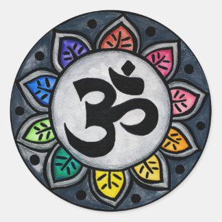 Serene Colour Round Sticker